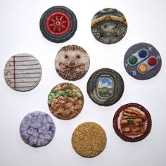 project - ipnot Punch Tool, Thread Painting, Hand Embroidery, Embroidery Ideas, Darning, Punch Needle, Wearable Art, Minis, Decorative Plates
