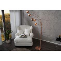 QUINTUS - design 5-arm floor lamp copper shades