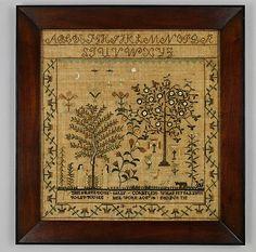 Sally Cornelius, 1806; American, Mid-Atlantic, Somers, New York; silk on linen