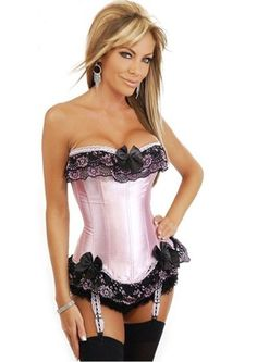 160102d399 Burlesque Strapless Corset in Pink