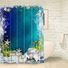 Foog Underwater World Starfish Shower Curtains Water Drop... https://www.amazon.com/dp/B01N2VUCGG/ref=cm_sw_r_pi_dp_x_7sswybP2NEKNX