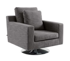 Oslo swivelling armchair grey