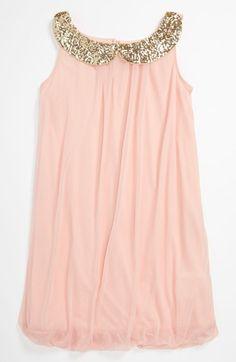 Roxette Sequin Collar Dress (Little Girls & Big Girls) ♡ed by http://www.LadyXeona.com