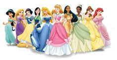 Disney Princess Line-Up with Cinderella in a Pink dress - disney-princess Photo
