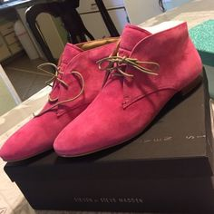 💕💕STEVE MADDEN BOOTIES💕💕 💕Pink, suede  booties!! New!!! Steve Madden Shoes Ankle Boots & Booties