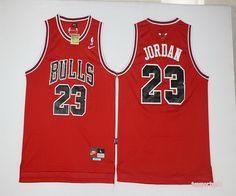 NBA Chicago Bulls 23 Michael Jordan Red Basketball Jersey With White Name