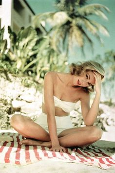 Grace Kelly in Jamaica in 1955, photographed by Howell Conant
