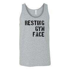 Resting Gym Face Workout Tank – Sweaties