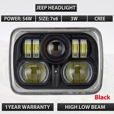 159.99$  Buy here - http://ali0dn.worldwells.pw/go.php?t=32789352801 - 2PCS Square 7 INCH 54W / 42W LED HEADLIGHT 10-30V IP67 For Jeep Wrangler JK LJ TJ Cherokee XJ Truck Offroad