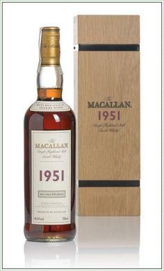 The Macallan 1951 Single Highland Malt Scotch Whisky #whisky