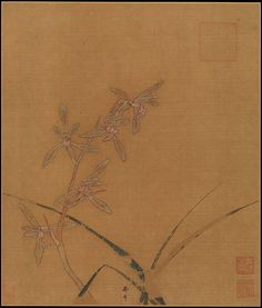 Ma Lin | Orchids | China | Southern Song dynasty (1127–1279) Album leaf; ink and…