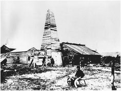 The world's first oil well, near Titusville, Pennsylvania, 1863.