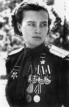 Ww2 • Lydia Litvyak, one of two Russian pilots who were the World's Only Female Fighting Aces During Ww2