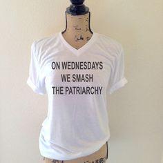 On Wednesdays We Smash the Patriarchy Tank Top by WildandFreeCoUSA /listing/471765023/on-wednesdays-we-smash-the-patriarchy