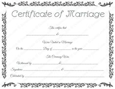 image relating to Printable Marriage Licenses titled 36 Least difficult Wrong Connection Certification shots inside 2019 Connection