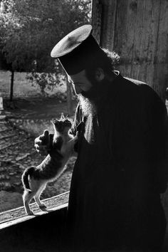 Bless me Father for I have sinned, I slapped the dog, but he was so in my food bowl. . . . =) Greek priest