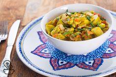 receita fácil, deliciosa e aromática de frango indiano ao curry