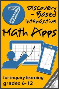 Inquiry / Discovery Apps for Exploring & Visualizing Math Concepts (Grades Math Tutor, Math Teacher, Math Classroom, Teaching Math, Google Classroom, Teaching Ideas, Classroom Ideas, Teaching Supplies, Online Classroom