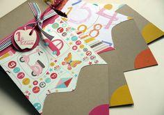 Scrapbook or card idea Scrapbook Paper Crafts, Diy Scrapbook, Pretty Things, Pin Card, Shaped Cards, School Parties, School Kids, Flower Stamp, Cute Crafts