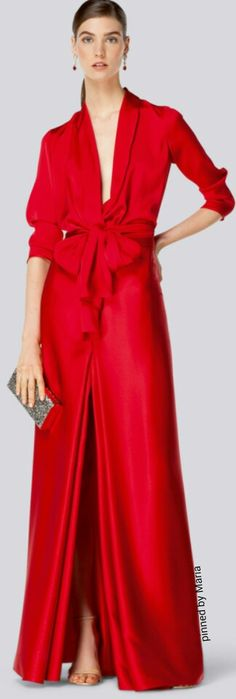 You'll know who designed it just by looking at it! <3 Carolina Herrera 2014..inspiring design..covering up the centre cut