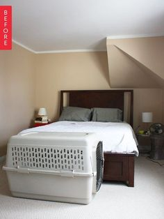 Amazing and Unique Tricks: Guest Bedroom Remodel Shower Curtains spare bedroom remodel built ins.Bedroom Remodel On A Budget Bath. Attic Bedroom Kids, Master Bedroom, Girls Bedroom, Bedroom Office, Bedroom Makeover Before And After, Revere Pewter, Luxurious Bedrooms, Bedroom Colors, Modern Bedroom