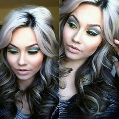 Amazing Dark Hair With Platinum Highlights Platinum Highlights On Dark Hairstyle Inspiration Daily Dogsangcom