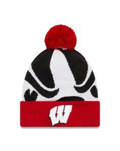 f2459048ec87af Wisconsin Badgers Logo Whiz 3 Cuffed Knit Hat Wisconsin Badgers Hat, New  Era Logo,