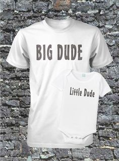 So cute....Father and Son Shirt Set Fathers Day Gift All Sizes Small Medium Large Xlarge. $28.99, via Etsy.