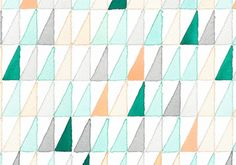 watercolor voile fabric: A Creative Mint (Leslie Shrewing) for Fabrics draw simple geometric design and fill it on Textile Patterns, Textile Design, Color Patterns, Fabric Design, Print Patterns, Pattern Design, Textiles, Pattern Fabric, Pattern Ideas