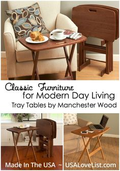 Classic Furniture for Modern Day Living | Manchester Wood Tray Tables | Made in USA