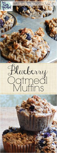If you like blueberry muffins and baked oatmeal you'll love these! They are the perfect combination just a little sweet and a hearty texture!