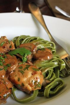 Giada recipe for chicken with mustard, marscapone and marsala sauce via There's a Newf in My Soup.