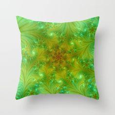 Green spring Throw Pillow
