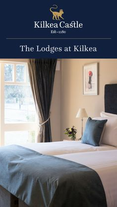Enjoy Kilkea Castle at your own pace and book a room in our Lodges overlooking the impressive Golf Course with the majesty of the Castle as your backdrop. The Lodges at Kilkea Castle are the perfect retreat for families, friends and golfing groups. Lodge Bedroom, Castle Bedroom, Castle Hotels In Ireland, Castles In Ireland, Fairytale Weddings, Lodges, Families, Bedrooms, Golf