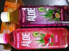 Passion Fruit and Lychee Aloe Vera drinks. Just Drink Aloe. We were told these are the top 2 flavours. Whats your favourite flavour? Just Drink Aloe Mango, Original, Lychee, Mango, Pomegranate, Strawberry??..