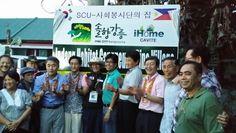 2013.11.30, 필리핀 카비테주 인당시의 강릉솔향마을 현판식에 강릉시의회 의장을 비롯한 3명의 의원이 참석했다.