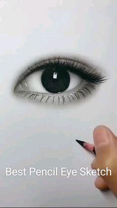 Art Drawings Beautiful, Art Drawings Sketches Simple, Pencil Art Drawings, Realistic Drawings, Pencil Sketching, Sketches Of Eyes, Drawing With Pencil, Pencil Sketch Art, Easy Sketches To Draw
