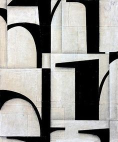 Artist Cecil Touchon at www.searspeyton.com  painting, black and white, typography, abstract,