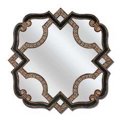 Black Gold Serpentine Mirror by Bassett Furniture