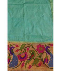 Light Green Handloom Paithani Saree