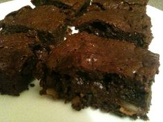 Wheat Belly Pecan Brownies. Made with almond meal, coconut oil and coconut milk. So moist and delicious. YUM!