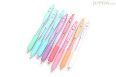Zebra Sarasa Push Clip Gel Pen - 0.5 mm - Milk - 8 Color Set - ZEBRA JJ15-8C-MK