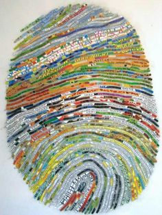 Fingerprint Art by  Cheryl Sorg de Mollerat.