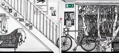 Amazing Marker-drawn Wall Murals by Charlotte Mann via DeMilked