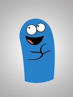 Bloo from Foster's Home for Imaginary Friends