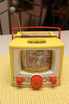 Vintage Fisher Price Movie Box TV Plays Mary Had A Little Lamb-Want