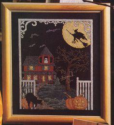 Cross stitch haunted house https://www.etsy.com/listing/163536779/counted-cross-stitch-halloween-haunted