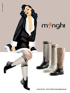 Menghi Shoes winter collection.