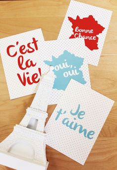 French Set of Print by ShopCF on Etsy, $25.00