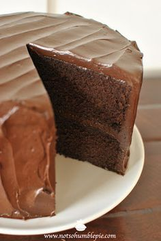 Not So Humble Pie: Big Chocolate Cake
